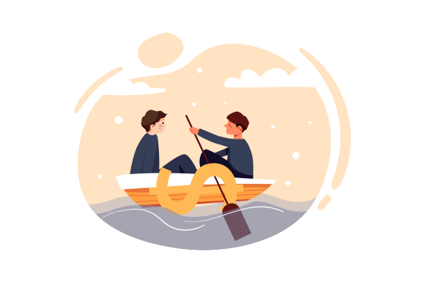 Two People In A Boat